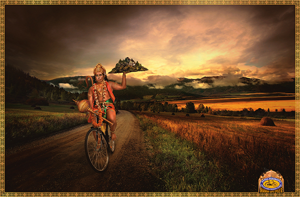 Hindu God Hanuman Ji Driving Bike, Motorcycle or Bicycle HD Wallpapers for free download
