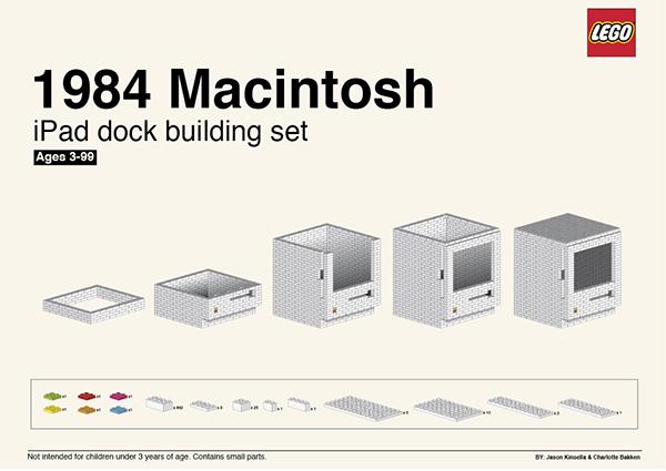 Lego Macintosh Ipad Dock Instructions On Behance