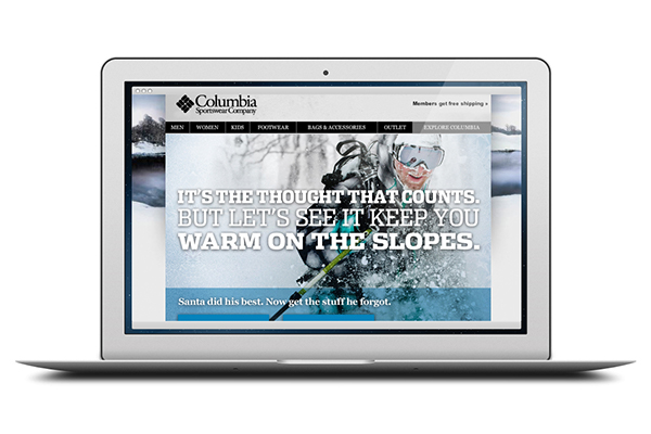 b401a0a2a28 Columbia Sportswear Holiday Email Campaign on Behance
