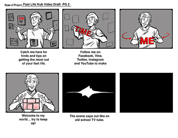 Storyboards illustrations sketches