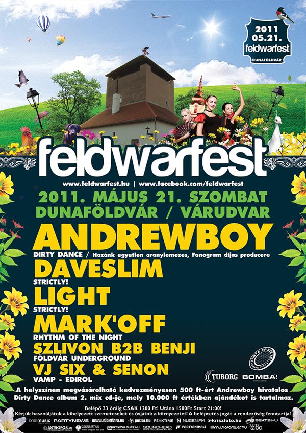 Feldwarfest festival party flyer dj