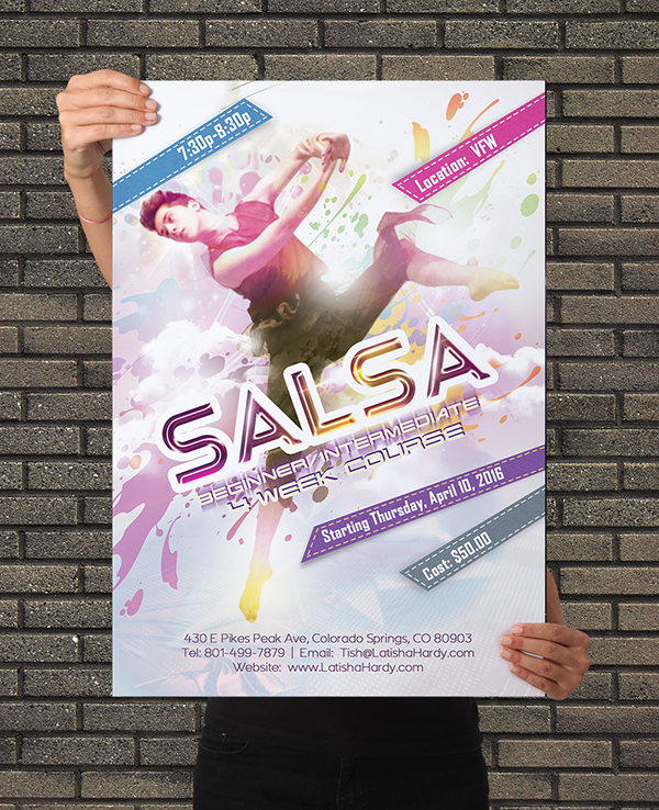 best free dance flyer template psd on student show