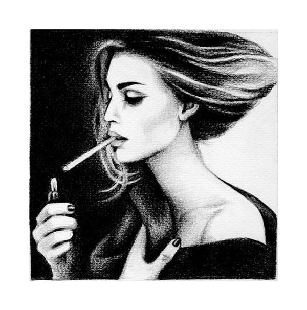 portrait  face   pencil  drawing