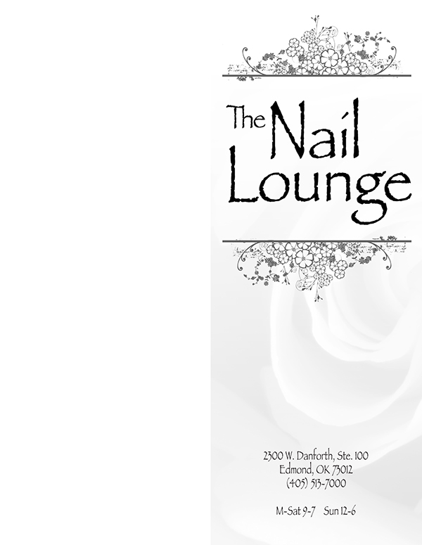 The Nail Lounge Menu of Services on Behance