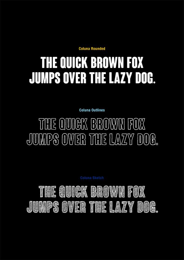 Coluna Font Family - Free Download on Behance