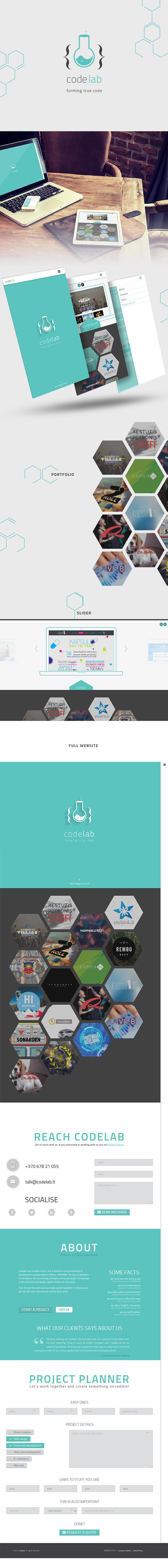codelab wordpress portfolio simple flat Web agency studio design color creative html5 minimal One Page