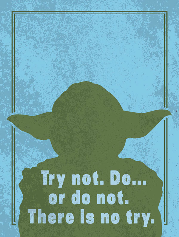 star wars silhouette quote posters on behance