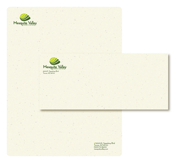Mesquite valley identity on student show front and back of business card on recycled unbleached card stock reheart Choice Image