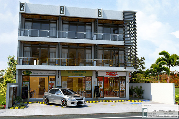 Residential commercial building on behance for Business building plans designs