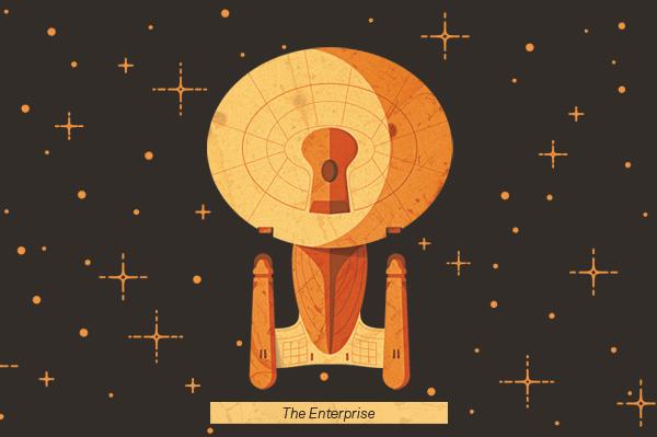 magazine editorial Space  spaceship stars Aerospace geometry