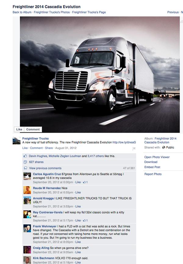 Freightliner Cascadia Evolution Launch   Social Media on Behance