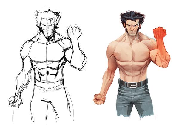 Comment dessiner wolverine - Wolverine dessin ...