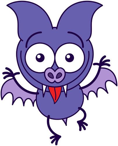Cute bat making funny faces