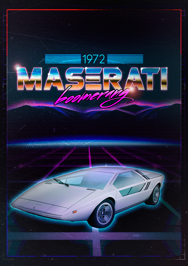 80s Style Poster On Behance