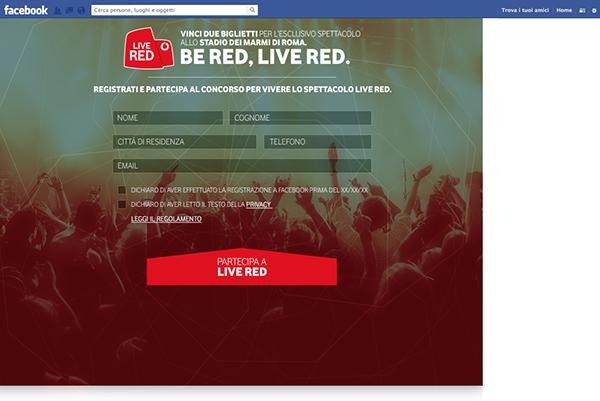 VODAFONE LIVE RED - FB APP on Behance