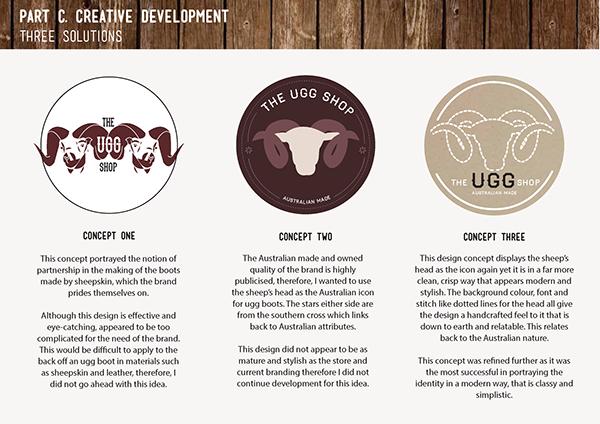 e20e3dc9663 Brand Identity: Rebrand - The Ugg Shop on Behance