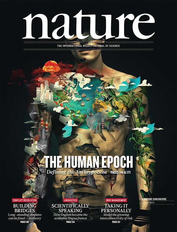Nature cover magazine male Epoch human evolution sevesostyle sevesoart albertosevesoart albertosevesostyle Nuclearbomb bomb