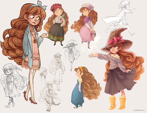 Character Design Job Canada : January character design portfolio on behance