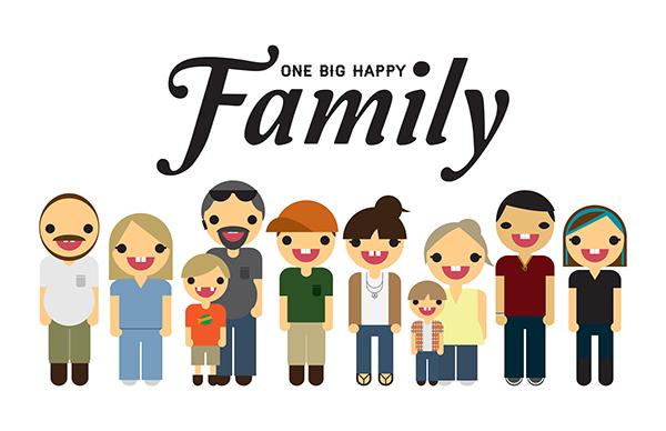 afgodsbeeld One happy family