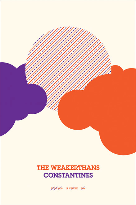 concert poster Chany Lagueux 3399 silkscreen silkscreened affiches sérigraphies wilco weakerthans we are wolves