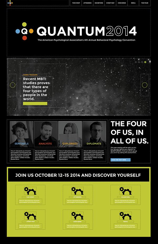 quantum meyers-briggs MBTI Web Responsive Website quantum 2014 psychology convention psychological personality websites Layout