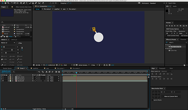 Motion Graphics Test: Explosion on Behance