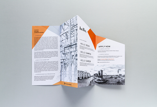 brochure print hello orange