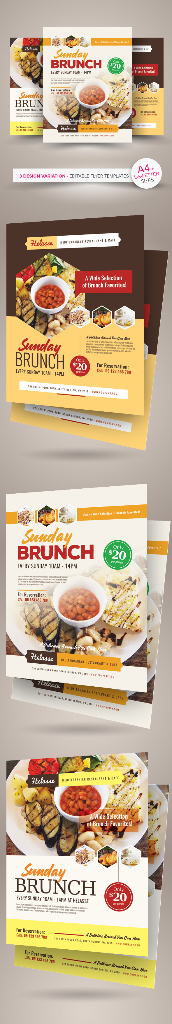 sunday brunch flyer templates on behance