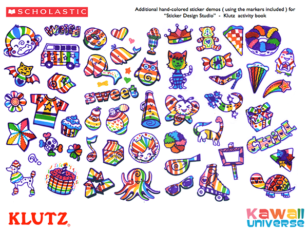 Sticker design studio illustrator and vector designer for klutz activity book sticker design studio • winner of the parents choice fun stuff award