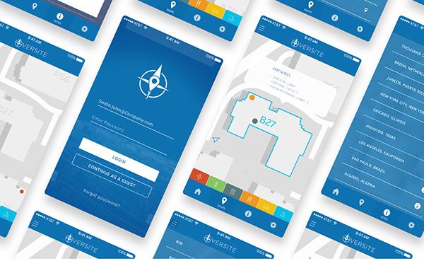 Oversite Interactive Campus Map App Design On Wacom Gallery