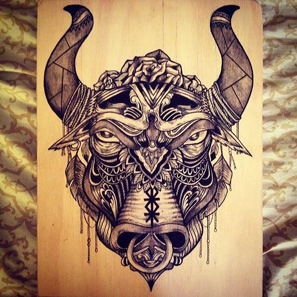 Bos Taurus  bull Taurus Bull Drawing