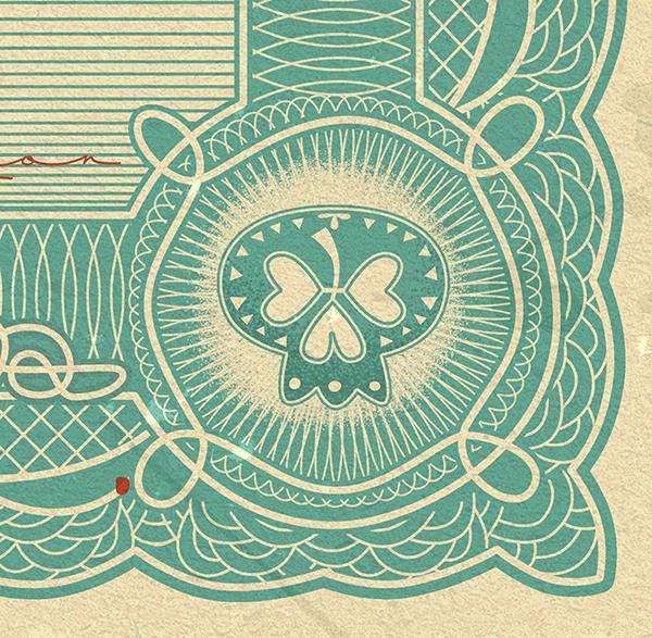 irish Ireland money economics Bank Notes illustratorsireland print Exhibition  Retro stamp cash intricate Banking Crisis poster