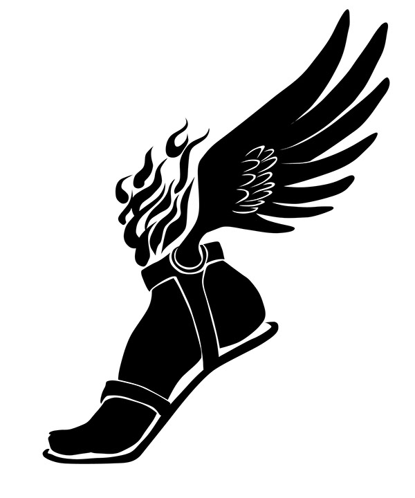 track and field clipart black and white