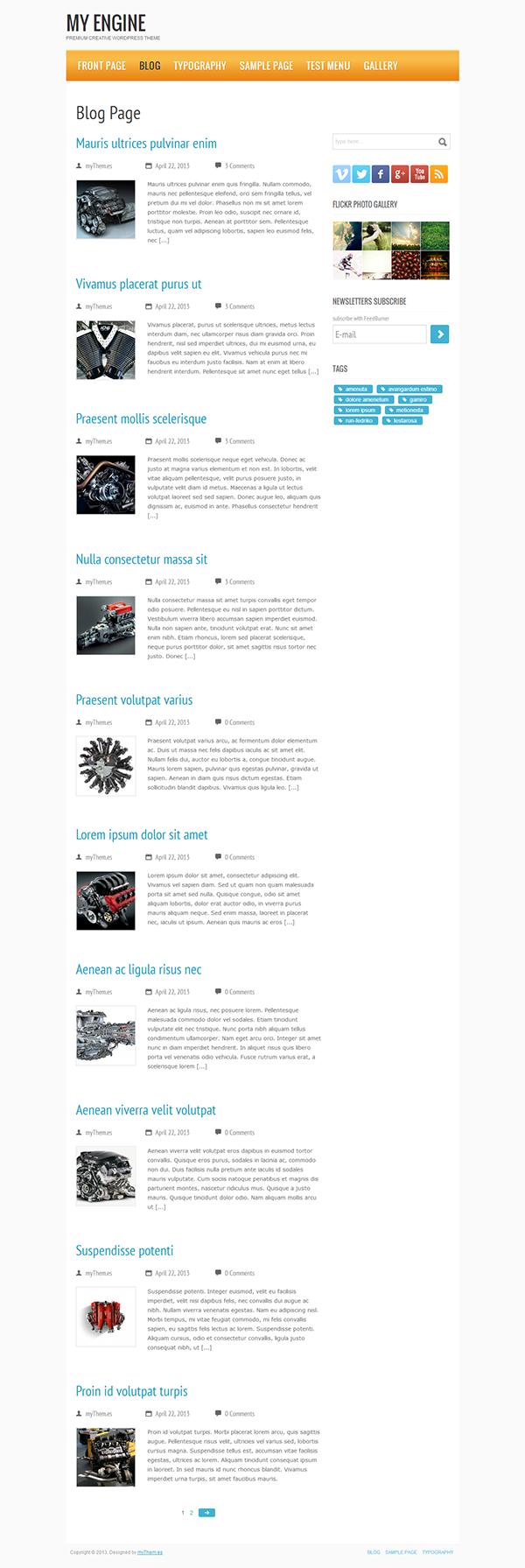 My Engine Free WordPress Theme