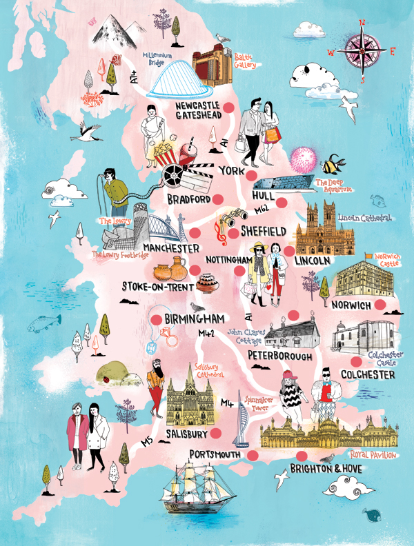 Character Design Jobs London : Time out london and visit england on behance