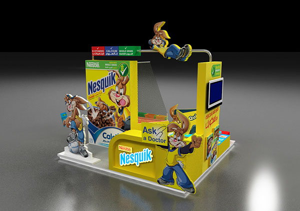 Nestle Exhibition Booth : Nesquik booth on behance
