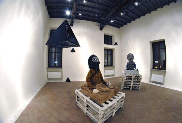 art 3D characters puppet installation