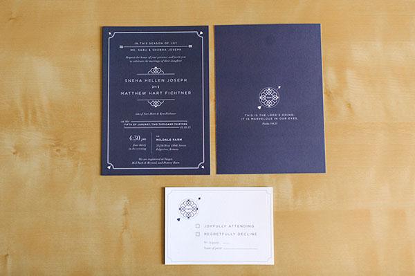 Sneha & Matthew Fichtner Wedding Invitations on Behance