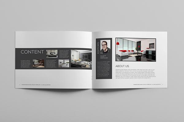 Interior brochure template on behance - Interior design brochure template free ...