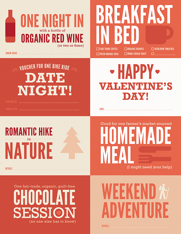 Valentines Day Coupons Sierra Club Style on Behance – Valentines Day Coupon