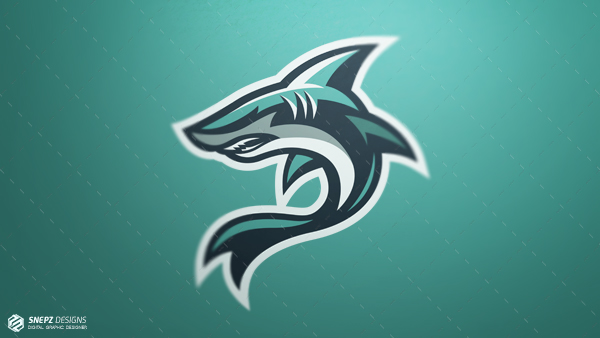 e sport logo amazing shark photoshop cs6
