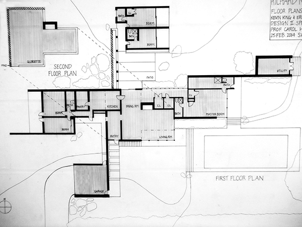Erin urffer design 2 architectural studies spring 39 14 on for Kaufmann desert house floor plan