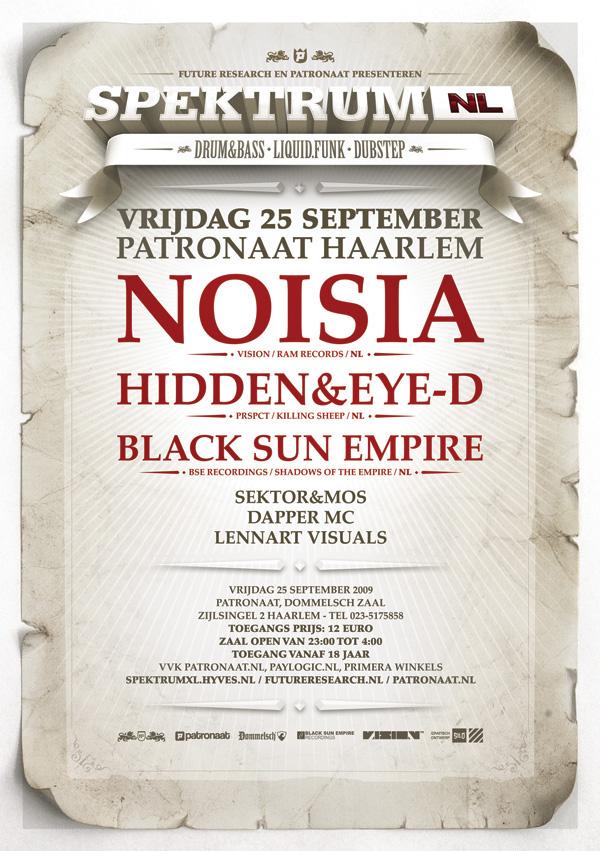Spektrum XL Super Silo Haarlem pirate ship pirates Patronaat noisia pendulum Black Sun Empire Eye-D & Hidden