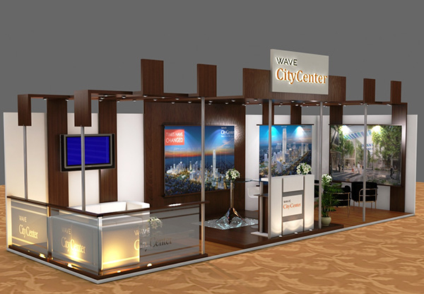 Property Exhibition Booth Design : Real estate company exhibition booth design on behance