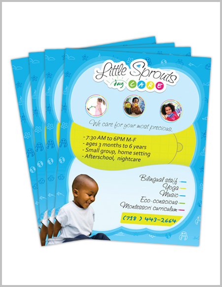 Daycare Flyers Little Sprouts On Behance