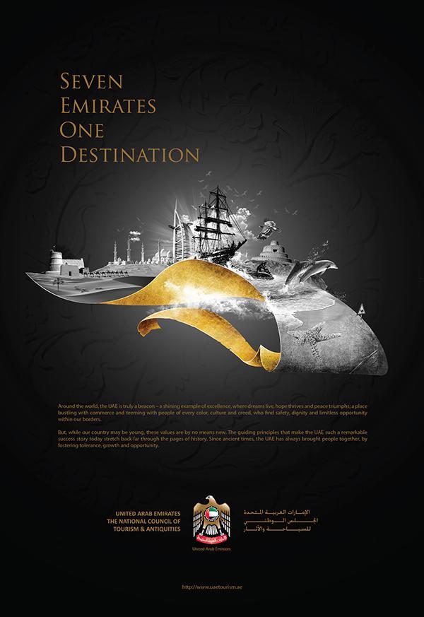 UAE tourism Brochure and Ads on Behance