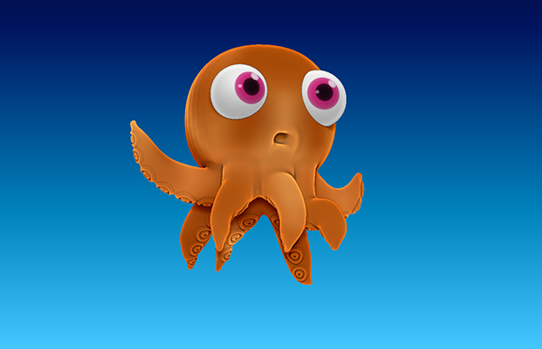 3d Character Design Behance : D octopus cartoon character design on behance
