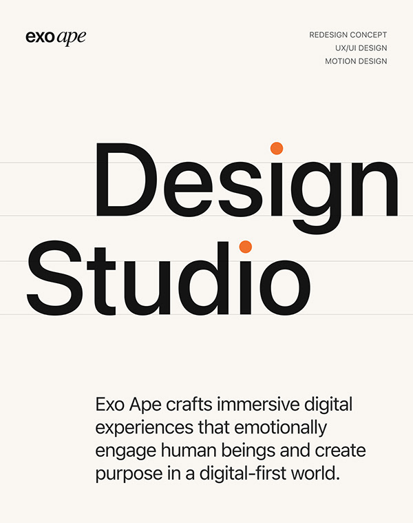 EXOAPE — redesign concept