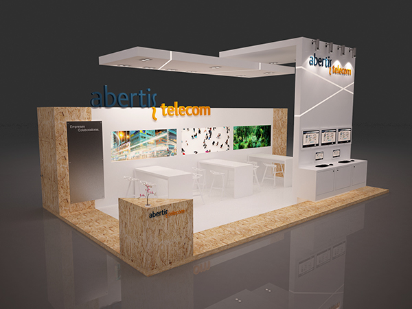 Expo Exhibition Stands Election : Stand abertis telecom on behance