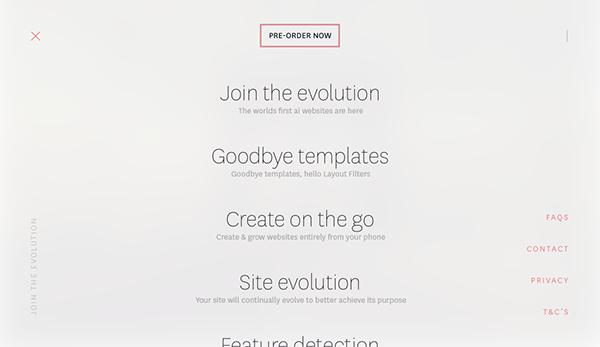 design Web UI site ux constraints ai thegrid grid product Platform evolution